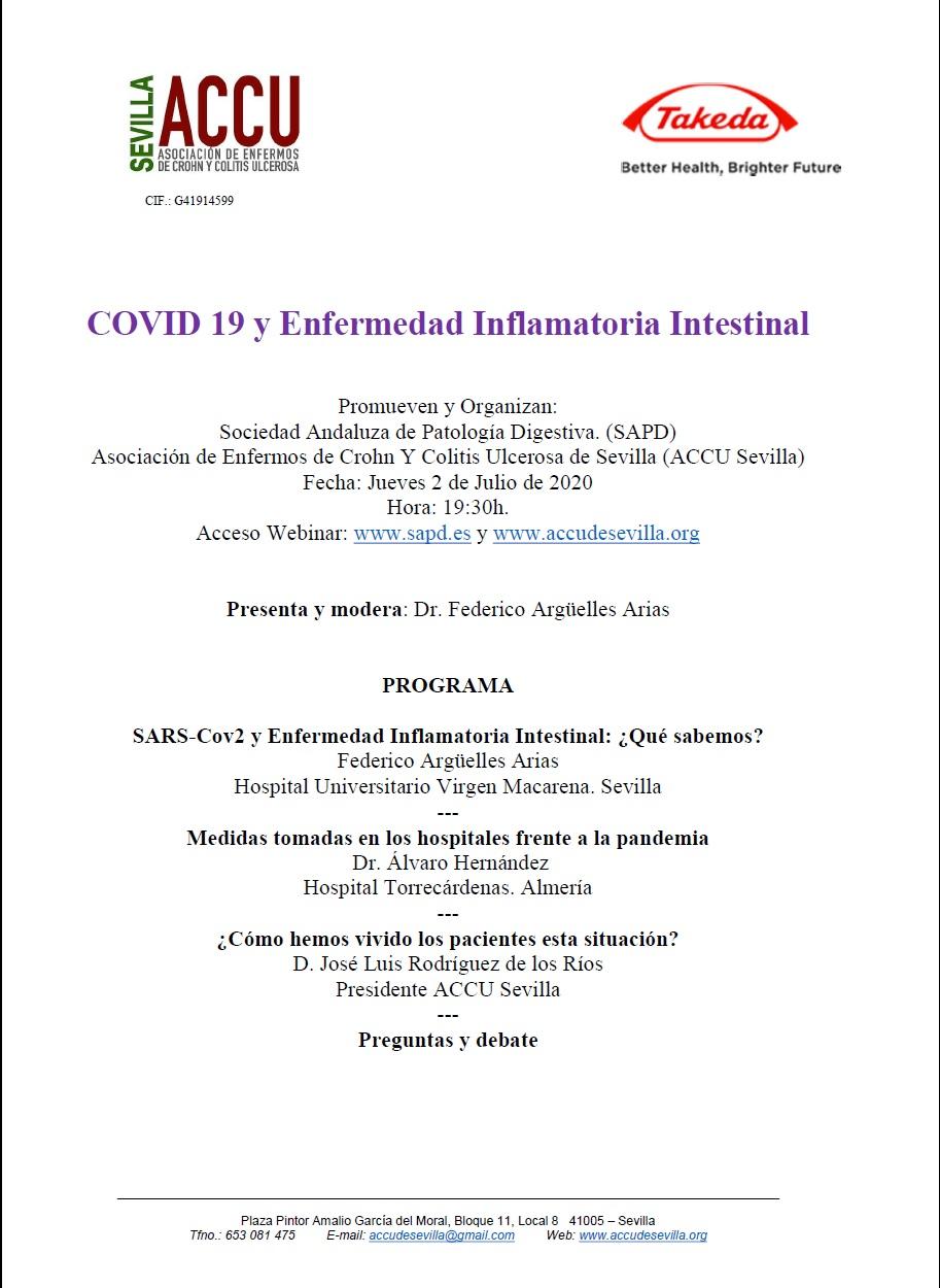 Covid 19 Y Enfermedad Inflamatoria Intestinal Asociacion De Enfermos De Crohn Y Colitis Ulcerosa